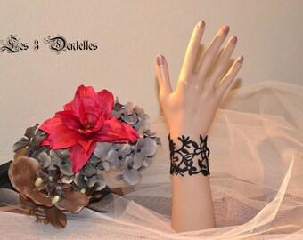 black felt Original tattoo bracelet