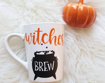 Witches brew mug/witches brew/halloween mug/halloween gifts/witches cauldron/witchy mug/poison mug/fall mug/halloween is coming/witch potion