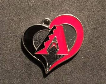 Arizona Diamondback Heart Charm