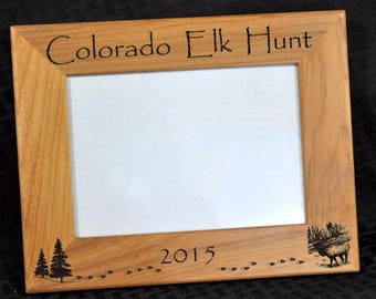 Hunting ~ Elk Hunting ~ Hunting Frame ~ Hunting Gift ~ Gift For Hunter ~ Hunting Picture Frame ~ Elk Hunter Gift ~ First Hunt Gift ~ 8x10