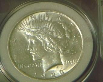 MS67 1923 P Peace Silver Dollar