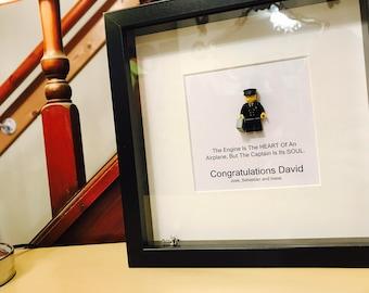 Pilot Gift - Lego Frame. Customable!