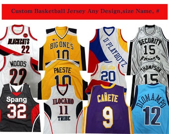 Custom made Stitched Basketball Jersey  Any Size Name Number for movie jersey
