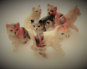 Stray Cat Blues, Vintage Miniature Cats in Need of Home