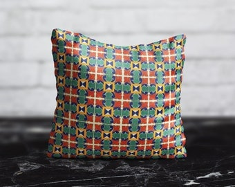 Morocco PillowCase Portugal Throw Pillow Cover Sofa Green Red Pillow Decorative Silk PillowCase Cushion Cover Satin Pillow Toss Home Decor