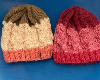 Special Knit Owl Hats