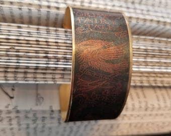 Grimm's Fairy tale Cuff Bracelet, Vintage Book Cover Cuff Bracelet, Book Jewelry, L. Frank Baum, Book Cover, Book Nook, MarjorieMae