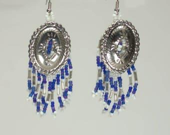 Blue Concho Earrings