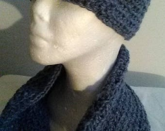 Blue Kufi with matching cowl