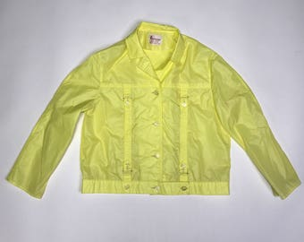 vintage yellow rain jacket from Penny's