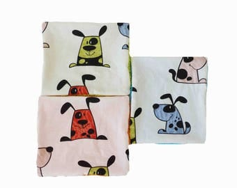 Set of 10 wipes XXL dogs pattern