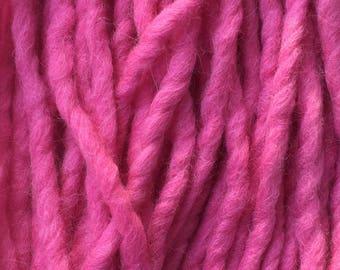 Hand Dyed Yarn, Bulky, Alpaca, Wool, Hand Dyed Pink Yarn