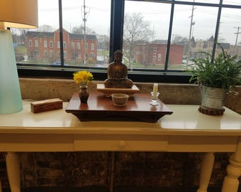 Buddhist Altar with your choice of 3 different wood species. 21L x 15d x 3h