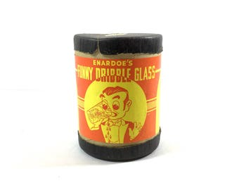 VIntage Funny Dribble Glass Enardoes Ripleys Believe It Or Not Prankster Drinking Glass Party Prank Fun Fun Fun! Clever Gift
