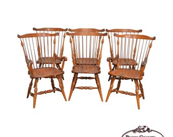 Duckloe Brothers 18th Century Style Set Of 6 Windsor Dining Chairs