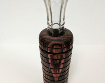 Hand Turned Multi-Color Plywood Duck Call - Double Reed
