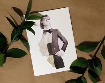 Black Tie - Collage Card