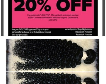 100% Human Hair, 18 Inch Kinky Curly Hair Bundles. Ready to wear, shampooed and conditioned, Custom Coloring Available, READY TO SHIP