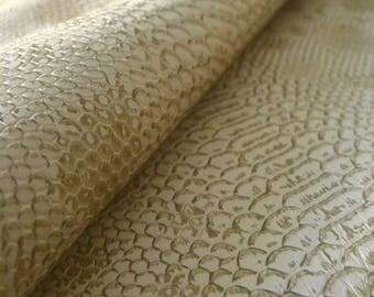 Faux leather beige dragon