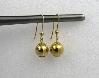 Splendid 18 Carat Gold Ball Earrings.