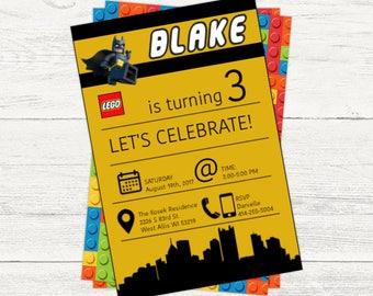 Lego Batman digital invitation