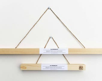 """Handmade HANGER FRAMES for 13"""" and 24"""" prints, photographs, drawings and posters"""