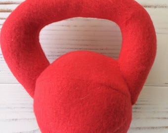 Stuffed Kettlebell Rattle, Red