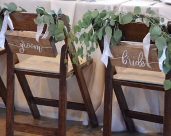 Bride &Groom wedding signs