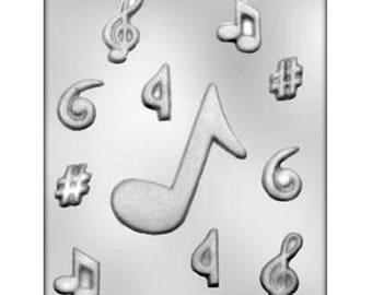Assorted Music Notes Chocolate Candy Mold