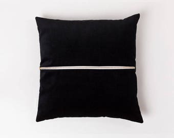 Velvet Touch Cushion . Galactic Black | Velvet Cushion | Throw Pillow | Velvet Pillow | Pillow Case | Decorativ Pillow | Accent Pillow