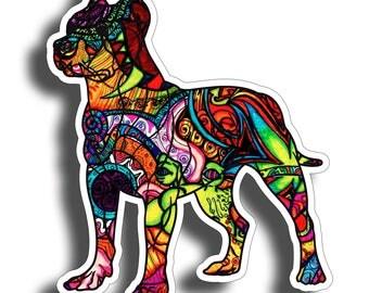 Pit Bull Pitbull Graffiti Watercolor Dog Sticker Die Cut Digitally Printed Vinyl Graphic for Cup Cooler Car Truck Window Tumbler