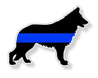 German Shepard Dog Blue Line K9 Sticker Car Truck Window Bumper Vinyl Police Printed Decal