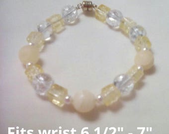 Calcite and Crystal Bracelet