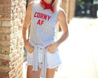 Corny AF tank top