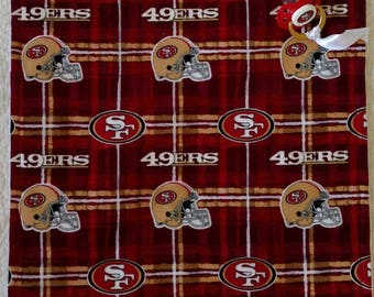San Francisco 49er's Binky Blanket with Pacifier