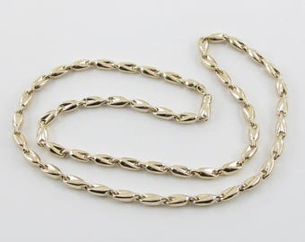 "Men's Bullet Link Style Chain 14k Yellow Gold Necklace 25 3/4"" 25.7 grams"