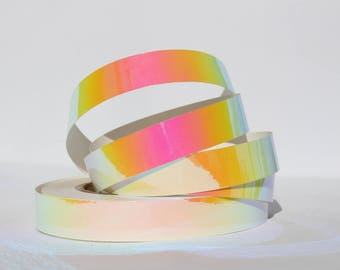 """3/4"""" Pink Sunset Translucent Color Morph Tape - 150', 100', or 50' Rolls -Hula Hoop Tape- Decorative -Craft Tape- Nail Art -Hoop Supplies"""