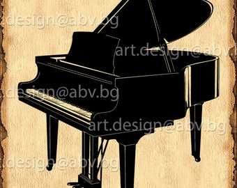 Vector PIANO, AI, eps, png, pdf, svg, dxf, jpg Download, collection, models library, grand piano, discount coupons