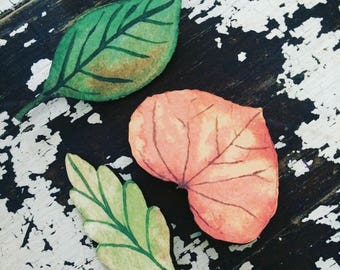 Sale wooden leaf broches
