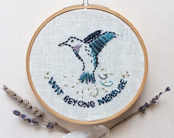 Custom Magical Muse & Slogan Embroidery Hoop   Original