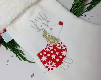 Dachshund Christmas Stocking, Dog Christmas Stocking, dog stocking, sausage dog Christmas, dog Christmas