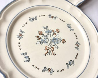 Cordella Collection Hand Decorated  Stoneware Dinner Plate
