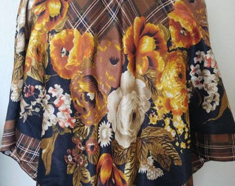 Stunning vintage floral fall scarf