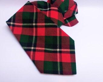 Vintage wool tartan tie