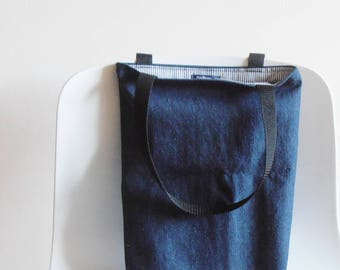 Denim bag, tote bag jeans, shopping bag, padded bag, gift idea