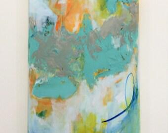 Abstract Original Acrylic Painting 'Smooth Sailing'