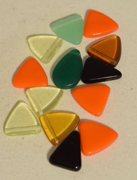 Beads Wedding Glass Colorful Triangle Czechoslovakian Beads 16mm