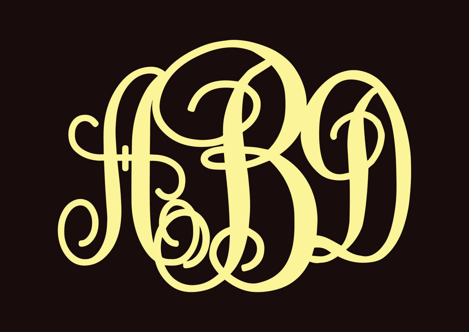 Magnificent Monogrammed Wall Art Images - The Wall Art Decorations ...