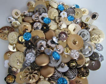 Metal and Sparkly Button Assortment
