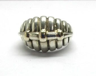 Kabana 14k and Sterling Ring